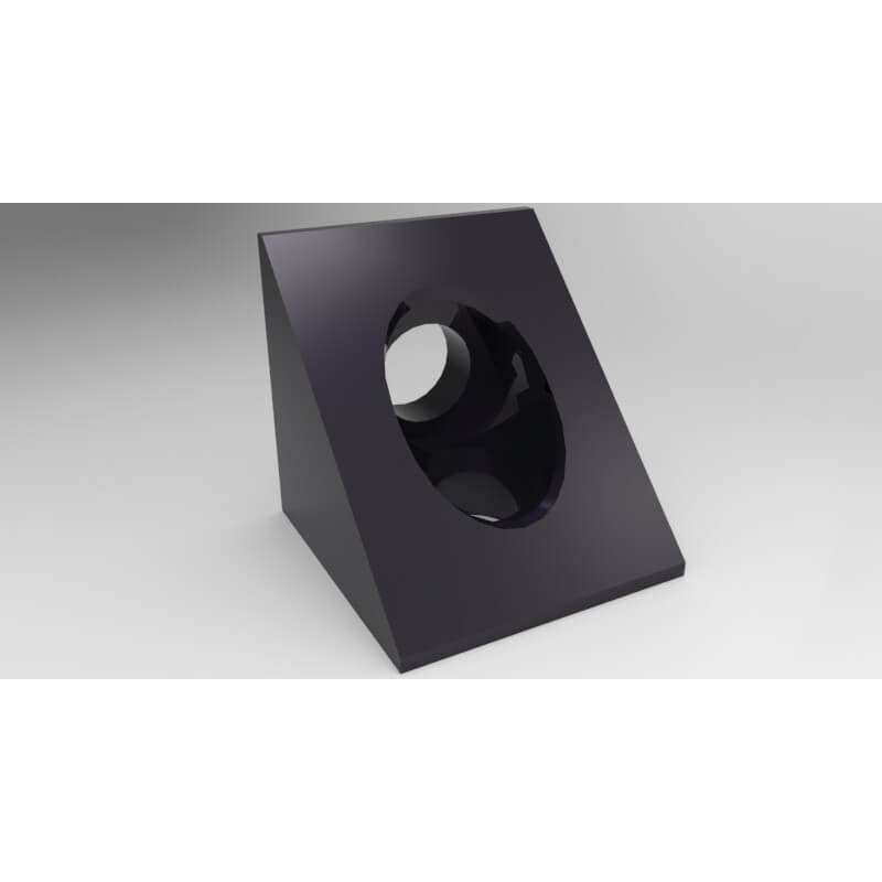 Black Angle Corner Connector