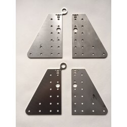 Stainless OX 90gr Double Y Joining Plates (Set of 4 Plates)