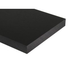 Black HDPE - Polyethylene Sheet 330x500mm
