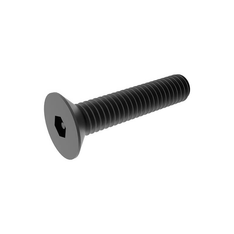 Black Countersunk Hex Socket Head Screw M5x8 to 30 (10 pack)