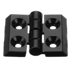Zinc Alloy Hinge - black or silver