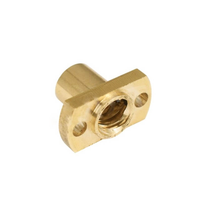 Brass Nut for 8mm ACME Lead Screw - flat sides