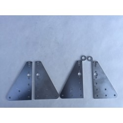 Stainless OX 90gr Joining Plates (Set of 4 Plates)