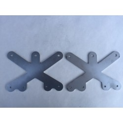 Stainless OX Hepta Inner Plates (Set of 2 Plates)