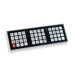 CNC Dust Proof Keyboard - PoNET kbd48CNC