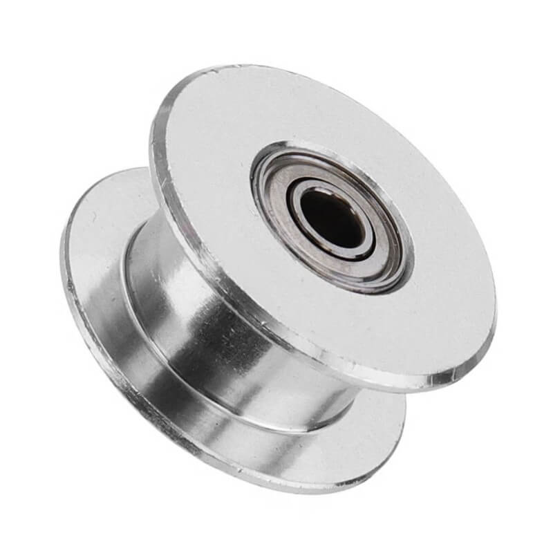 GT2 Smooth Idler Pulley w Bearings for 6mm Belt - 5mm Bore