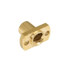 Brass Nut for 8mm ACME Lead Screw - flat sides