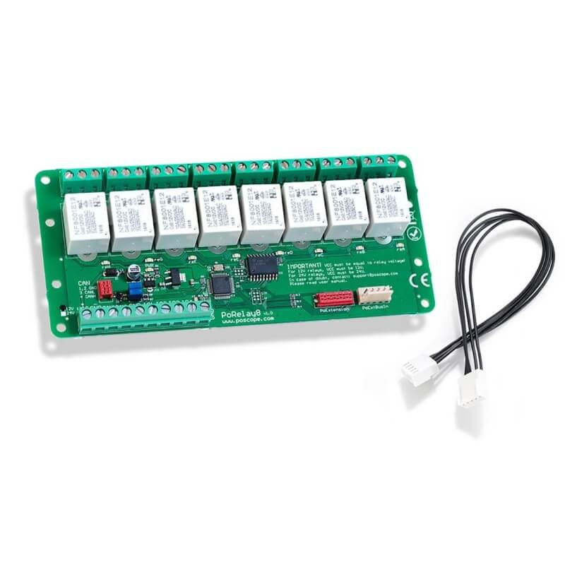 CAN relay – PoRelay8 – Relay extension board with CAN bus