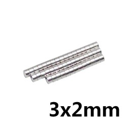 Disk Ø3x2mm - Neodynium Magnet (10 pack)