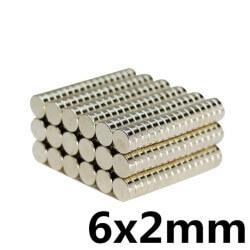 Disk Ø6x2mm - Neodynium Magnet (10 pack)