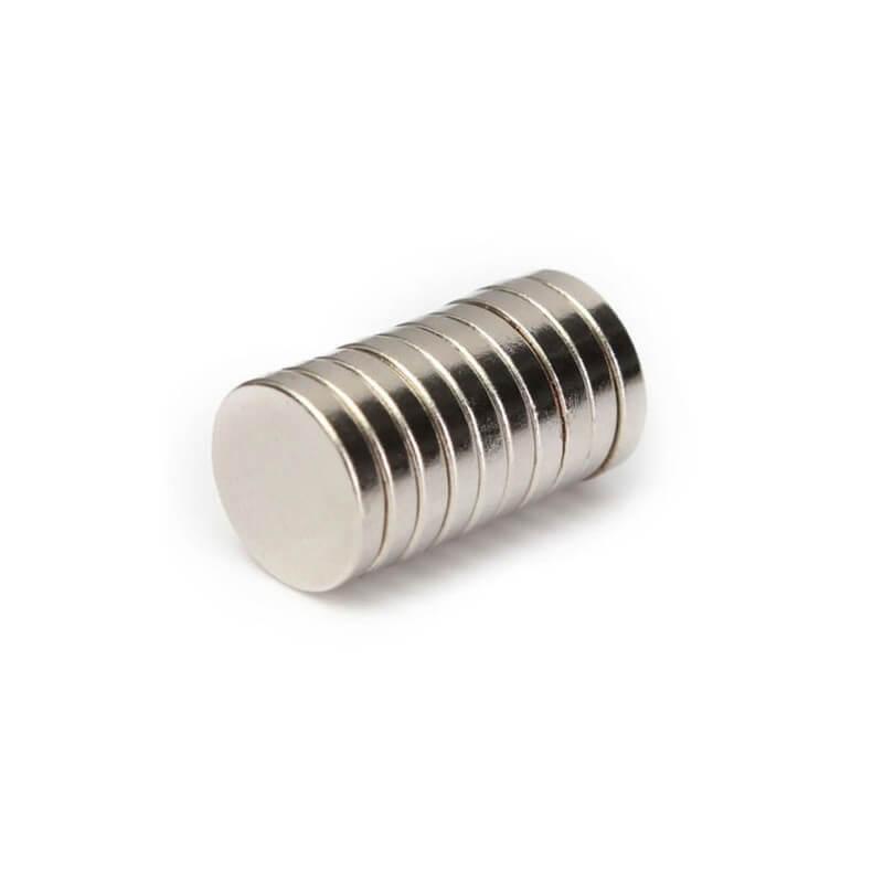 Disk Ø12x2mm - Neodynium Magnet (10 pack)