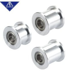 Mellow GT2 Smooth Idler Pulley w Bearings for 6mm Belt - 5mm Bore