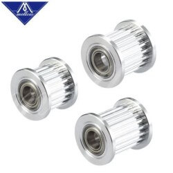 Mellow GT2 Toothed Idler Pulley w Bearings for 6mm Belt - 5mm Bore