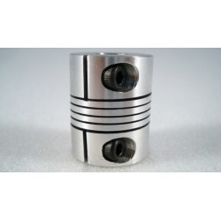 "Flexible Coupler - D25x 1/4"" or 8mm x8mm"