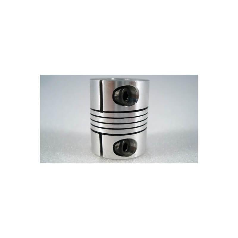 """Flexible Coupler - D25x 1/4\\"""" or 8mm x8mm"""