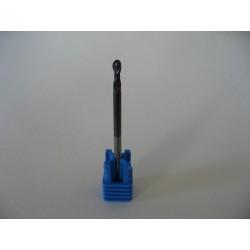 Hi End - 2 Flutes Ball Nose Milling Bit - Shaft 3mm