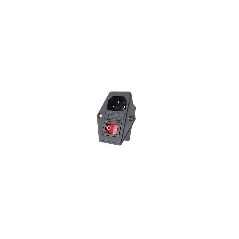 IEC Male Power Inlet with Switch