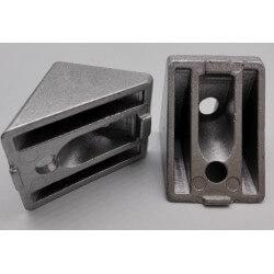 4040 Cast Corner Bracket - 45° Connector